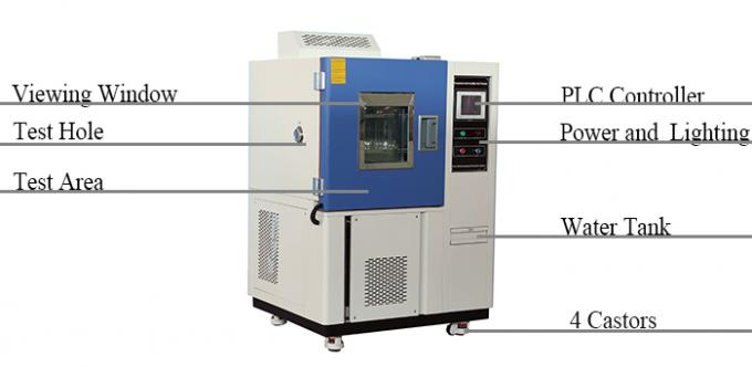 Stainless Steel Climatic Test Chamber Low Temperature High Humidity Controlled 1