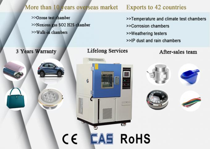 Stainless Steel Climatic Test Chamber Low Temperature High Humidity Controlled 0