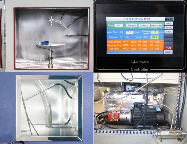 High Pressure Steam Jet Cleaning Climatic Test Chamber Water Spray IPX9K 0